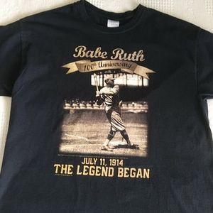 Babe Ruth 100th anniversary t-shirt Large